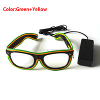 Bar night fluorescent Glasses EL Wire Glowing Glasses 20pieces Wholesale Flashing Product Holiday Lighting Glasses