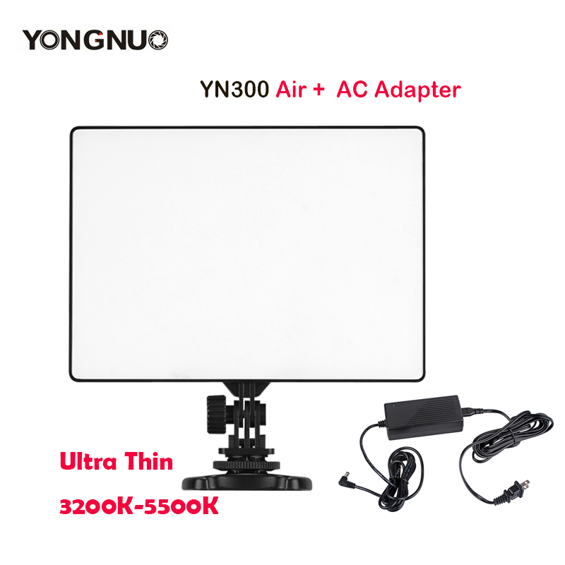 YONGNUO YN300Air YN300 Air LED Camera Video Light 3200K 5500K with AC Adapter for Canon Nikon