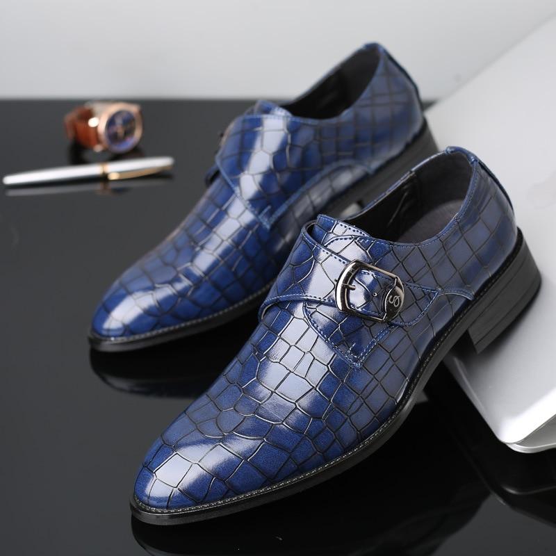 Sapatos Patente Negócios Formais Preto amarelo Claro De Homens Oxfords Dedo Do Dos Couro Pé azul Vestido Apontado Casamento Clássicos wqI8pB