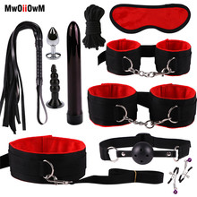 MwOiiOwM Exotic Accessories Nylon Sex Bondage Set Sexy Lingerie Handcuffs Whip R