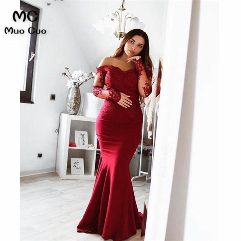50c013f609 Aliexpress.com : Buy Hot Pink 2018 Mermaid Off Shoulder Evening ...