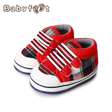 Hot Sale Spring Autumn Baby First Walkers Boys Girls Shoes Breathable Non-skid Rubber Sole Deodorant Wearable Lattice graphics