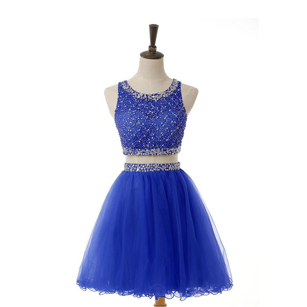 9a6e966bdef Royal Blue Sequin Short Prom Dress