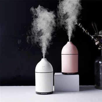 300ML White Aromatherapy Diffuser USB Ultrasonic Air Humidifier Mist Maker Aroma Essential Oil Diffuser for Home with LED Light - DISCOUNT ITEM  36 OFF All Category