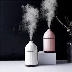 300ML biały dyfuzor do aromaterapii USB ultradźwiękowy nawilżacz powietrza Mist Maker Aroma dyfuzor olejków eterycznych dla domu z LED Light w Nawilżacze powietrza od AGD na