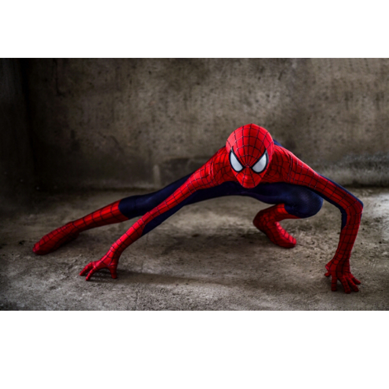 Hero Catcher High Quality Custom Made Red <font><b>Spider</b></font> <font><b>Man</b></font> <font><b>Costume</b></font> <font><b>Adult</b></font> <font><b>Men</b></font> Halloween Spiderman Cosplay Zentai Suit Amazing Spiderman