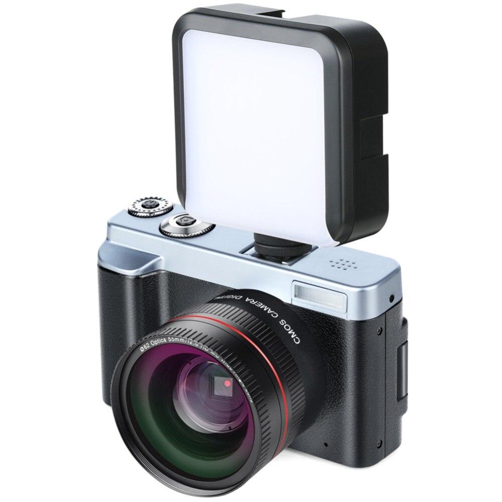 ALLOET P12 écran Flip sans fil WIFI double objectif grand Angle Full HD 1080 P 24MP 16X Zoom enregistreur vidéo caméra numérique