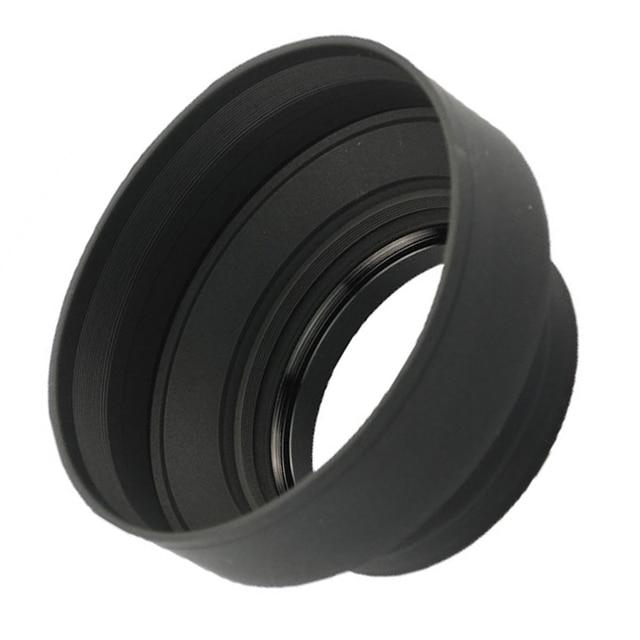 Nouveau pare-soleil grand Angle en caoutchouc Standard 49mm 52mm 58mm 55mm 62mm 67mm 72mm 77mm téléobjectif + capuchon Lente pour Canon Nikon Sony
