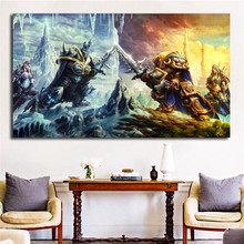 Jaina And Arthas Heroes Of The Storm Warcrafts HD Wall Art Canvas Posters Prints Painting Pictures For Bedroom Home Decor