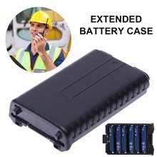 6 AAA Genişletilmiş Pil saklama kutusu için Baofeng UV5R 5RA B C D 5RE Artı Iki Yönlü Radyo