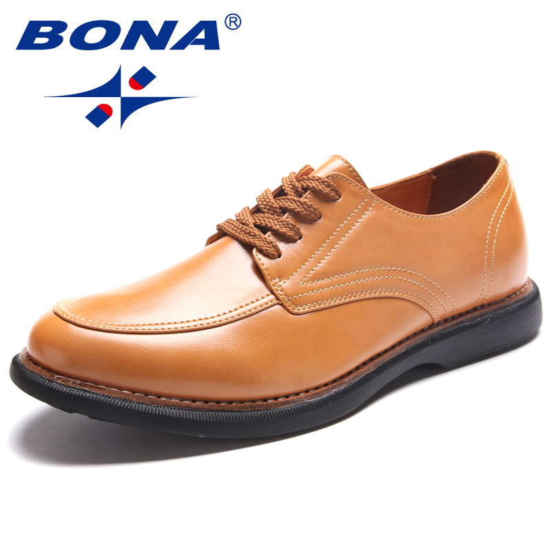 BONA New Classics Style Men Casual Shoes Lace Up Men Loafers Microfiber Male Flats Comfortable Men Shoes Soft Fast Free Shipping