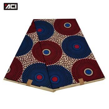 ACI Veritable Wax Hollandais African Ankara Fabric 6 Yards/Piece Veritable Super Wax Hollandais African Fabric Batik For Women