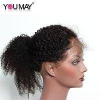 Mongoolse Afro Kinky Krullend Pre Geplukt 360 Kant Frontale Sluiting Natuurlijke Haarlijn Met Baby Haar Natuurlijke Zwart Kan U