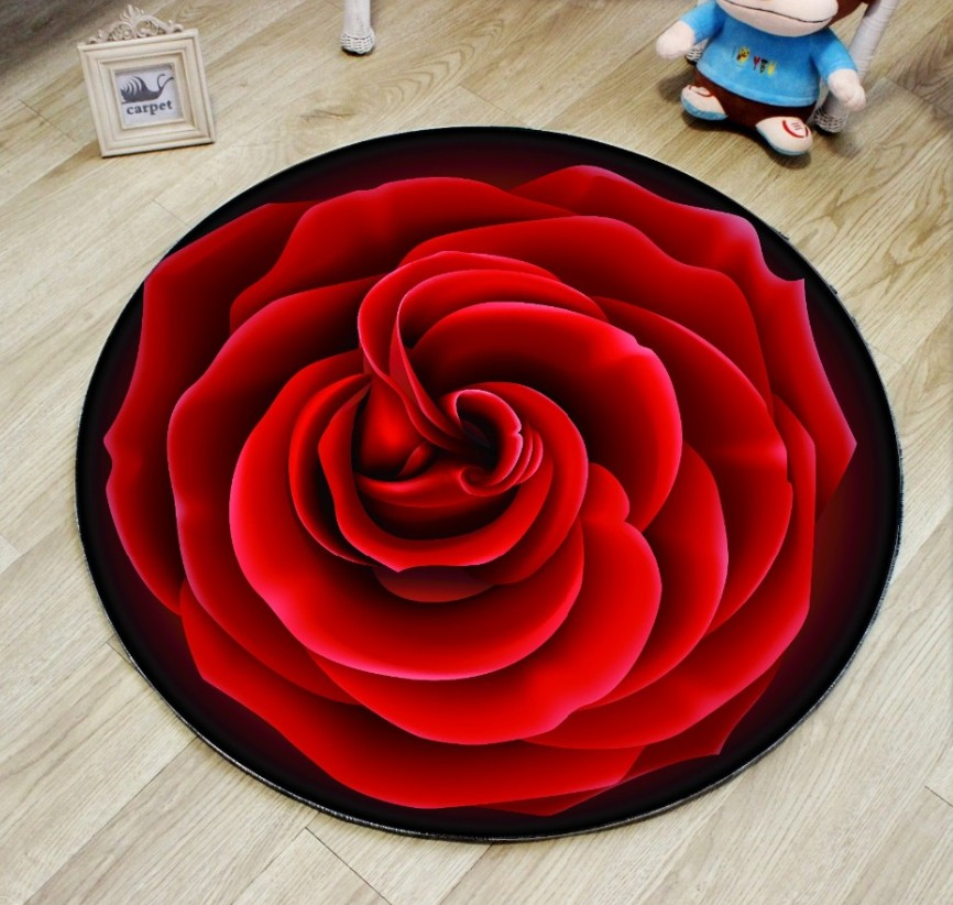 3D Red Rose Round Carpet Parlor Living Room Mats Adult Children Kids  Bedroom Chair Rug HomePopular Round Red Rugs Buy Cheap Round Red Rugs lots from China  . Red Rugs For Living Room. Home Design Ideas