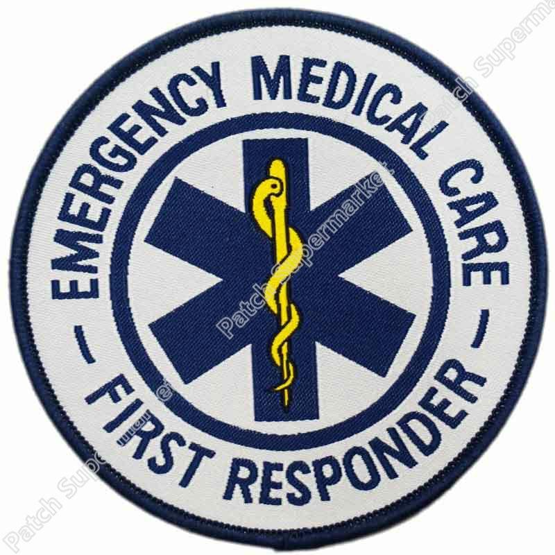 "2.5/""x3/"" EMS EMT or First Responder Star of Life Emblem Patch"