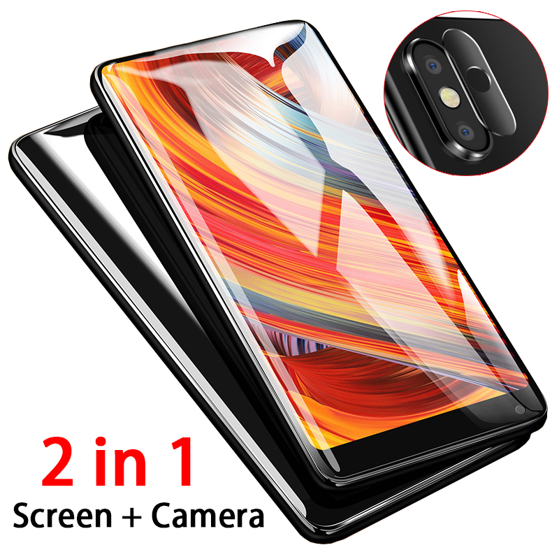 >2 in 1 9D screen with camera lens protector on the for Xiaomi Mi Mix 2 2s <font><b>Max</b></font> 3 mix2 <font><b>s</b></font> mix2s max3 protective tempered glass film