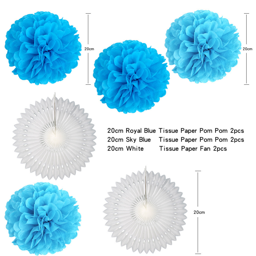 Blue Party Decoration Wedding Bridal Shower Birthday Party Decor ...