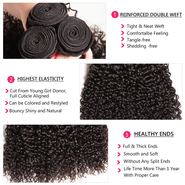 Hair Brazilian Curly Hair Weave