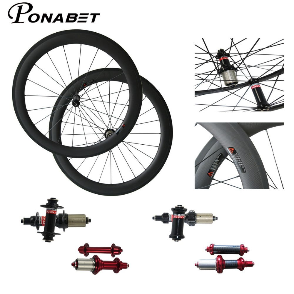 Powerway Ceramic Bearing Hub Chinese Carbon Road Wheels 38 50 60 88mm Clincher Tubular Super light