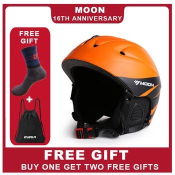 MOON Newest Style Ski Helmet Professional Skiing Sports Snow Safety Good Quality Helmet For Men Outdoors Winter Ski Helmet MS86