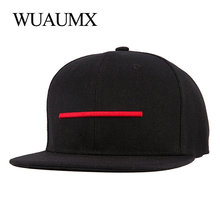 Wuaumx Brand Snapback Caps For Men Flat Brimmed Hat for Women Baseball Caps gorras Snap back Hip Hop Casquette Bone Masculino