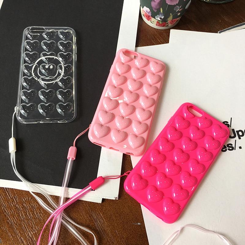 JAMULAR Cukierki Kolor Różowe serce Galaretka Miękki futerał na - Części i akcesoria do telefonów komórkowych i smartfonów - Zdjęcie 4