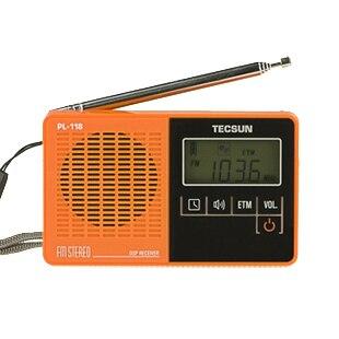 Дэ сын pl-118 портативный чистый fm стерео dsp радио небольшой