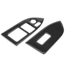 Углеродного волокна окна автомобиля кнопка включения обложки обрезки Стикеры для Subaru BRZ/Toyota 86 2013 2014 2015 2016 2017 2018