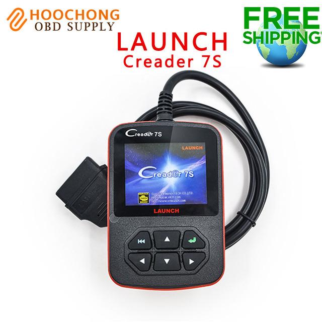 Launch x431 obd lector de código de creader 7 s con aceite reset función creader 7 plus actualización en línea