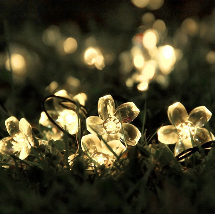 YINGTOUMAN 2018 Flower Type Solar Lamp String Lights Christmas Holiday Party Decoration Light Garden Decorative Lamp 7m 50led