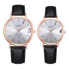 Couple Watch Fashion Leather Strap Sports Casual Women Men Watches