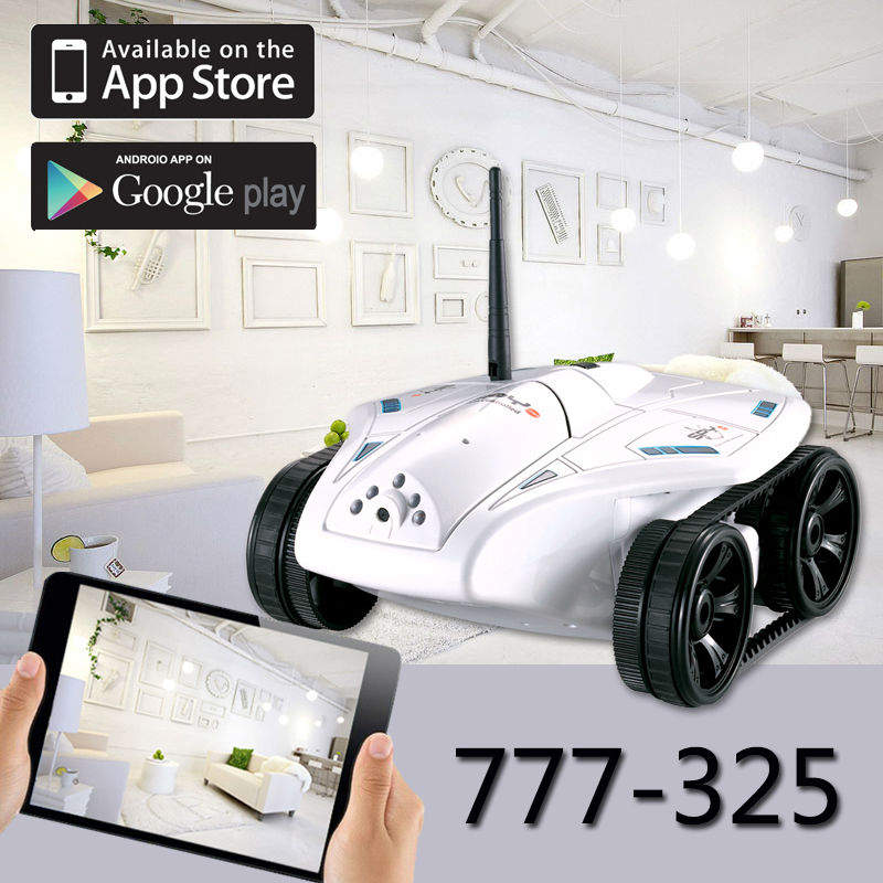 Wifi RC Car with camera hot sale 777-325 RC Mini Tank Real-time Video Photo Transmission HD Camera IOS or Android Toy FSWB wifi mini rc camera tank car ispy with video 0 3mp camera 777 270 remote control robot with 4ch suppots by iphone android app