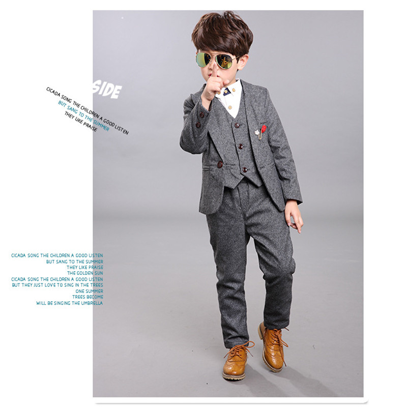 2018 Miaoyi New Children Suit Baby Boys Suits Kids Blazer Boys Formal wedding boy suits Jackets+Vest+Pants+shirts2-14Y 2017 new children suit baby boys suits kids blazer boys formal suit for wedding boys clothes blazer pants 2pcs 3 12y