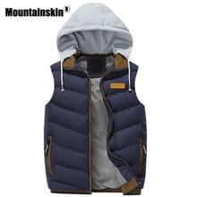 Mountainskin Casual Vests Men's Jacket Sleeveless Autumn Waistcoat Men Outerwears Hooded Male Coats Winter Brand Clothing SA323