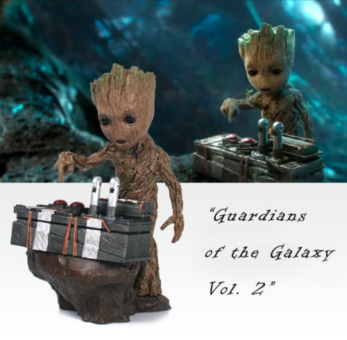 Guardians of The Galaxy Vol. 2 Baby Gro 7 Figure Movie Scene Collectable Gift Anime Figure Collectible Model Toy