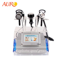 2019 AURO New Technology Cavitation Ultrasonic Liposuction RF Vacuum Slimming Beauty Machine for Spa with Free Shipping