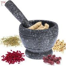 Mortar + Pestle Set Kitchen Supplies Durable Lightweight Garlic Mills Mixing Pot Herb Pepper Grinder Minced Tool недорого