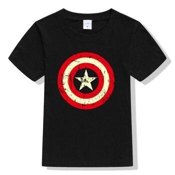 2017 Summer Boys superhero T shirt Clothes Captain America Kids T-shirts For Boy Cartoon Tops super hero Tees Children Clothing