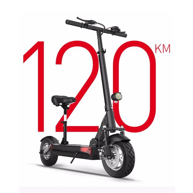 48 V 26A batterie au lithium scooter électrique max plus de 100 km 48V500W vélo électrique pliant avec siège électrique planche à roulettes kick scooter