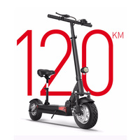 48V 26A lithium battery electric scooter max over 100km 48V500W Folding electric bike with seat electric skateboard kick scooter
