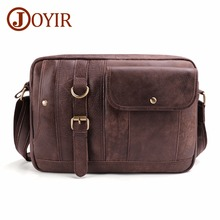 JOYIR Genuine Leather Men Bags Vintage Messenger Bags Cow Leather Men Shoulder Bag Casual Male Small Briefcases Crossbody Bags genuine leather men bag fashion vintage real cow leather men shoulder bag leisure male crossbody messenger bag small bag men