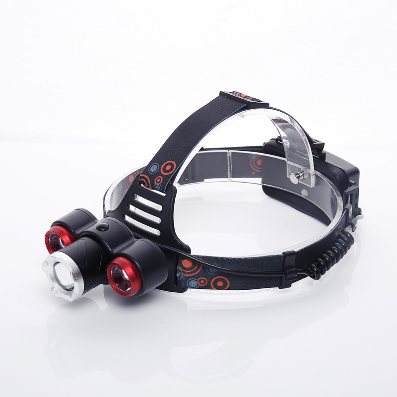 LED headlight strong light lamp charge head wear flashlight outdoor lamp