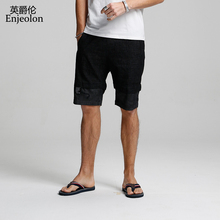 Enjeolon 2019 Summer Casual Jeans Shorts Men Solid Pants Male Available Knee Length High Quality K6421