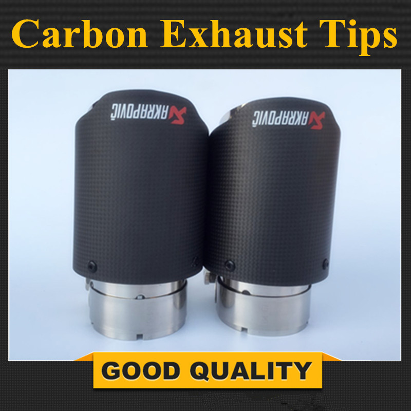 Inlet 2.5 Outlet 3.5 Stainless car matte Carbon Fiber Car Exhaust Tip tailpipe car-styling exhaust car muffler tip AkrapovicInlet 2.5 Outlet 3.5 Stainless car matte Carbon Fiber Car Exhaust Tip tailpipe car-styling exhaust car muffler tip Akrapovic