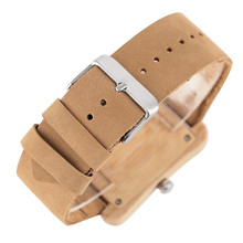 Luxury Gifts Wooden Watches Quartz Watch Men Special Rectangular Dial Roman Numbers Men's Wristwatch Unisex Clock Lovers Gift