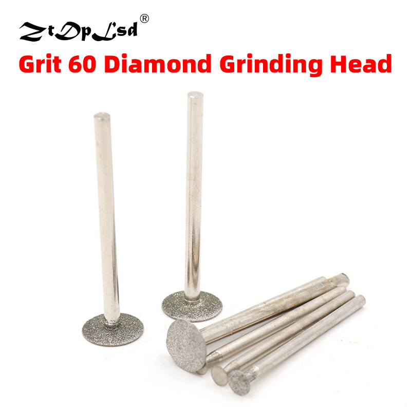 1PCS 2.35/3MM Shank Dia 3MM-14MM T Type Thin Slice Diamond Grinding Head Diameter Rotary Carving Polishing Cutting Tool