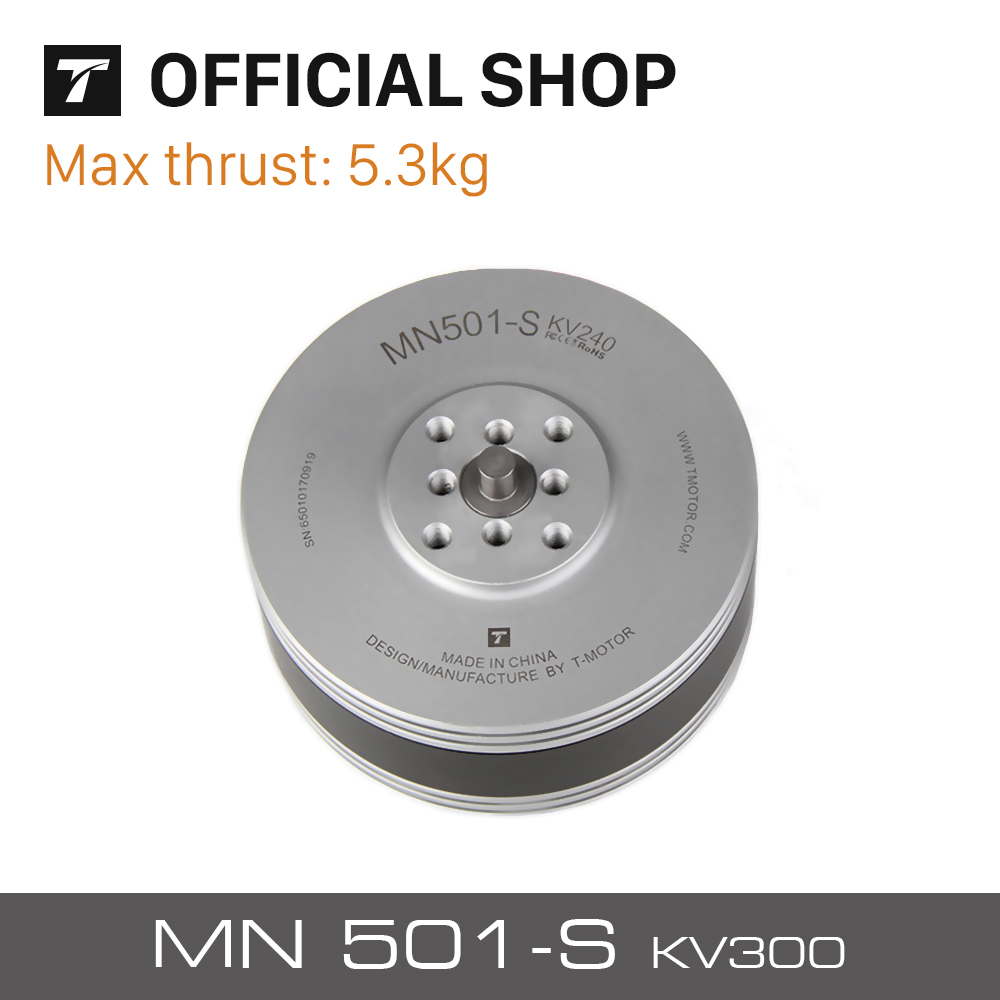 T-Motor Newest Navigator Series MN501-S KV300 Brushless Waterproof Motor For Multirotor Copters RC Drones t motor series mn3515 400kv navigator series motor for quad hexa octa multicopter