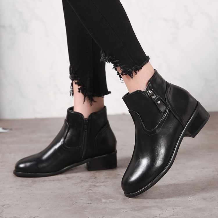 Большой размер 11 12 13 14 15 на осень и зиму толстый тонкий высокий каблук для женщин