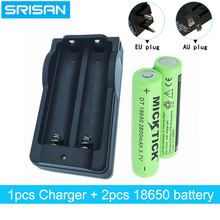 2PCS 18650 3.7V 2800mah Rechargeable Battery lithium li-ion Batteries+18650 Intelligence universal charger AU/EU plug chargers стоимость