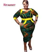 Африканские платья bazin с вощеным принтом для женщин 2018 Дашики